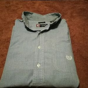 Mens light blue chaps dress shirt